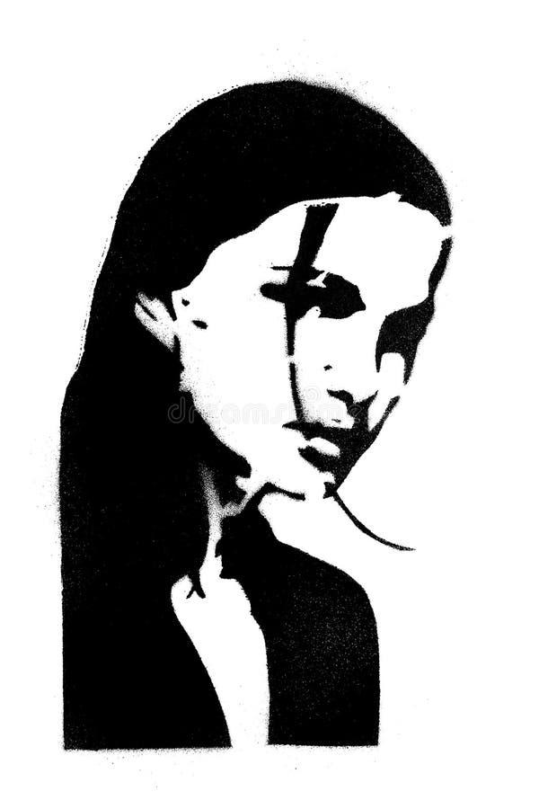 portret dziewczyny ilustracji