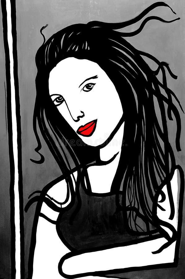 portret dziewczyny royalty ilustracja