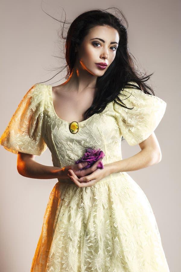 Portret elegancka kobieta w średniowiecznej erze obraz royalty free