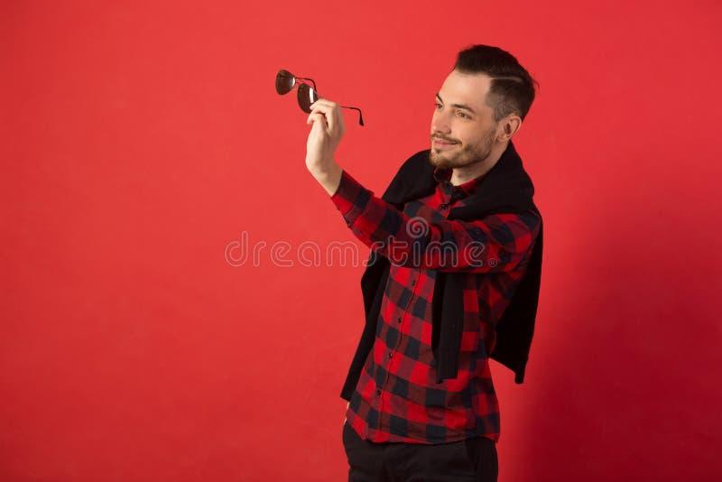 Portret elegancki młody facet fotografia stock
