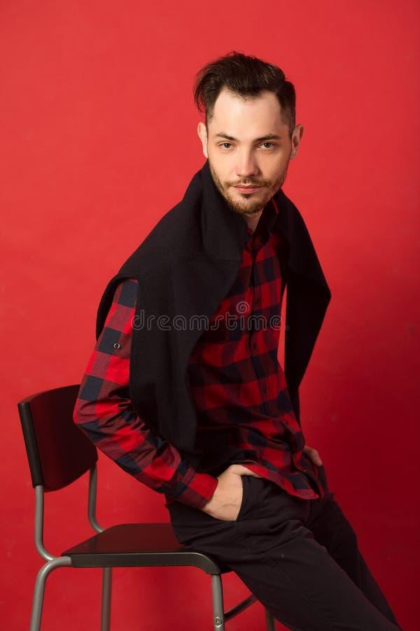 Portret elegancki młody facet zdjęcie stock