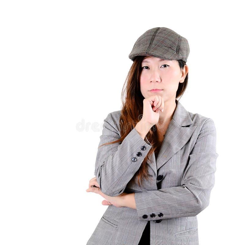 Portret elegancko ubierająca wspaniała kobieta zdjęcie royalty free
