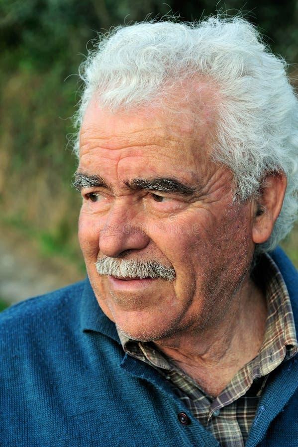 portret farmer senior fotografia stock