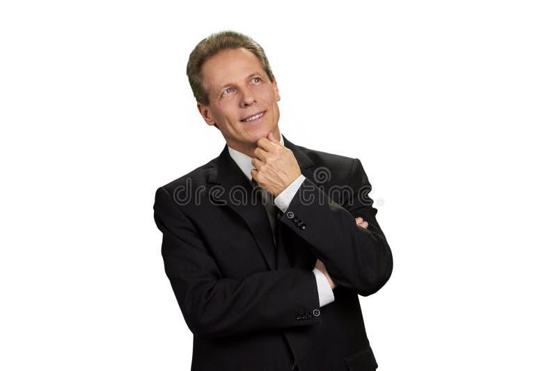 Portret główkowanie dojrzały biznesmen zdjęcie stock
