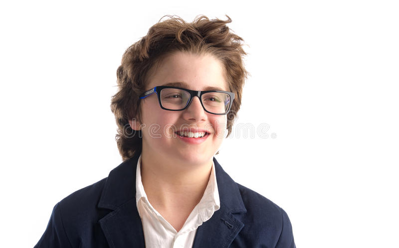 Portret głupka faceta ono uśmiecha się zdjęcie stock