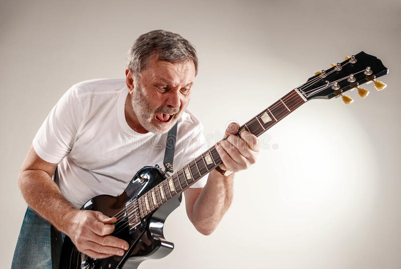Portret gitara gracz obrazy stock