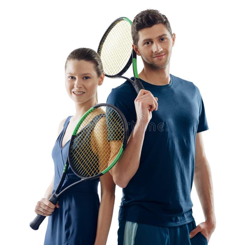 Portret gracz w tenisa obrazy royalty free