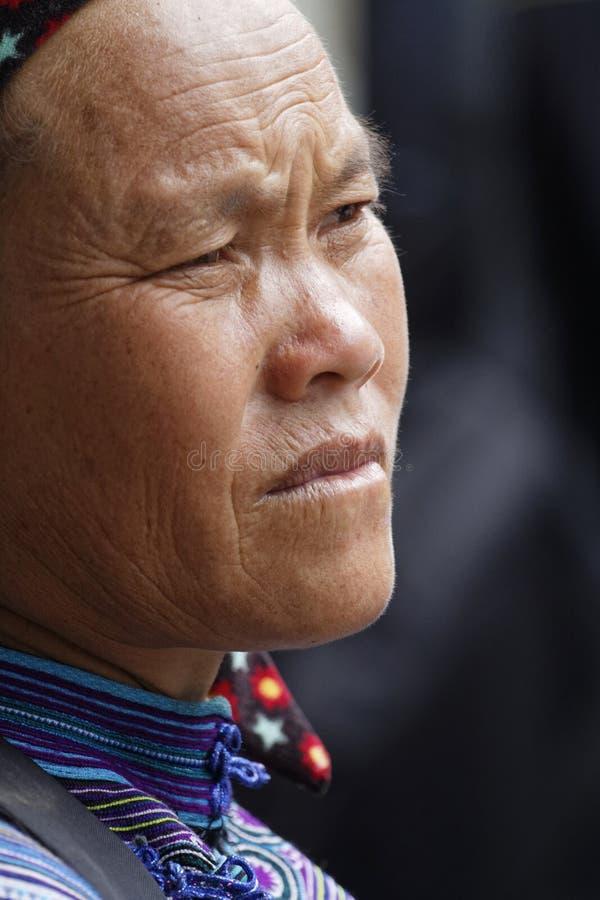 Portret H ` Mong kobieta zdjęcia stock
