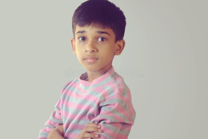 Portret Indiańska chłopiec obraz stock