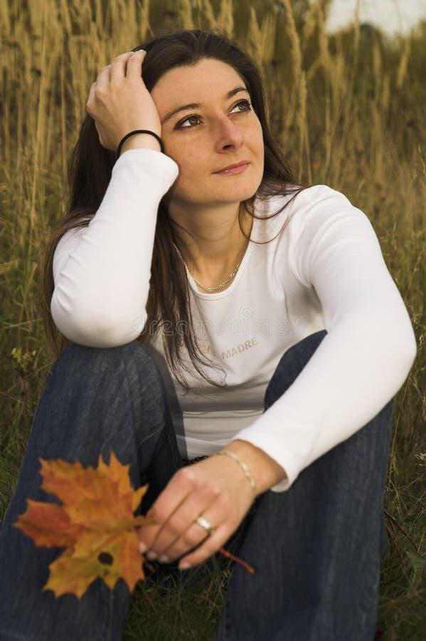 portret jesieni obrazy royalty free