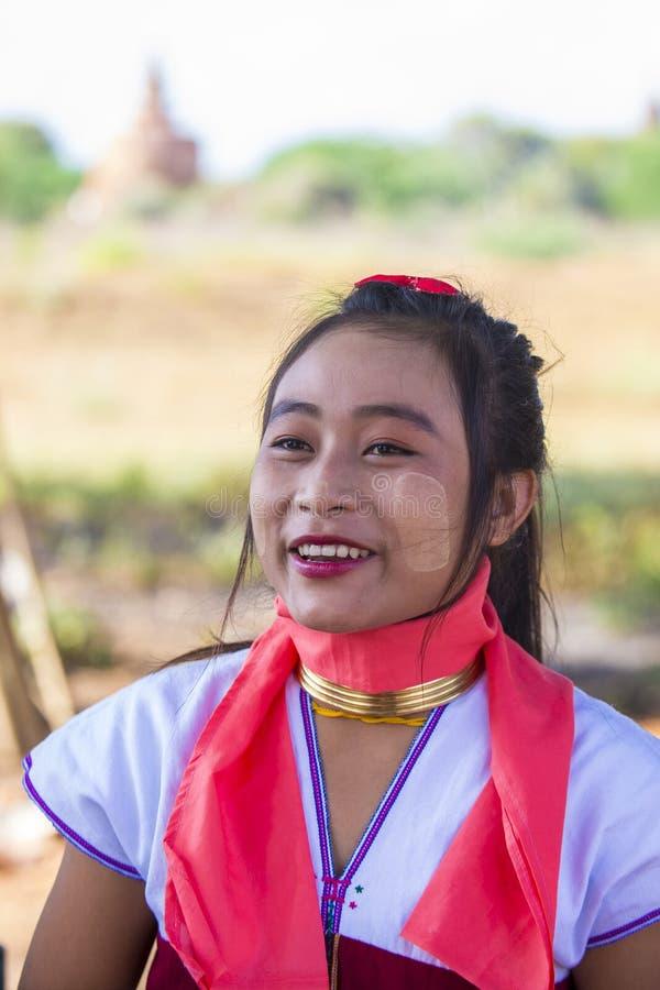 Portret Kayan plemienia kobieta w Myanmar fotografia stock