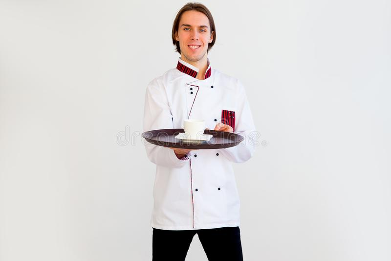 Portret kelner fotografia stock