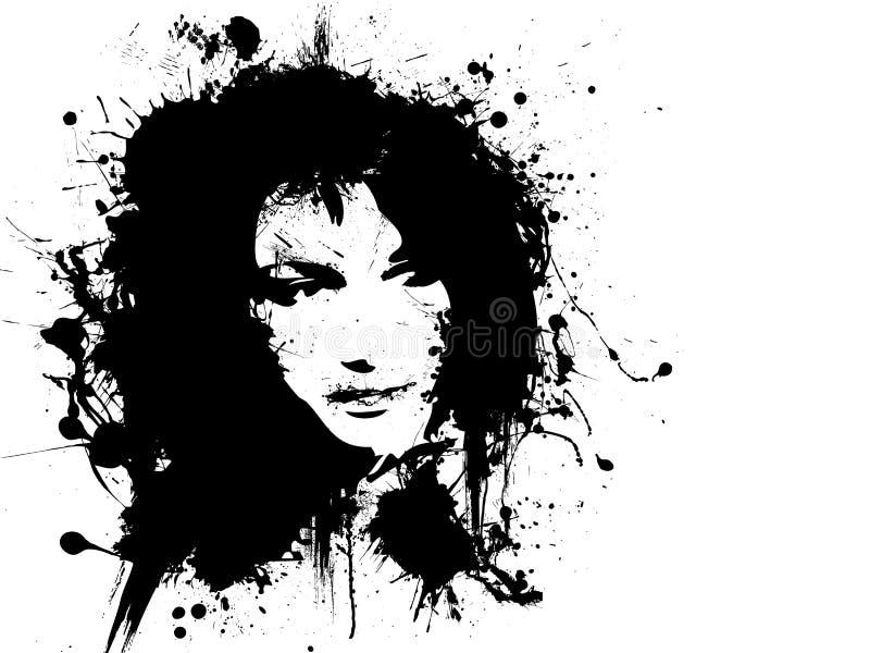 portret kobieta ilustracja wektor