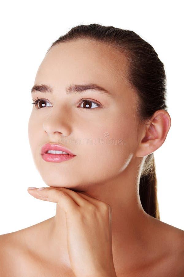 Portret kobieta piękny model zdjęcia royalty free