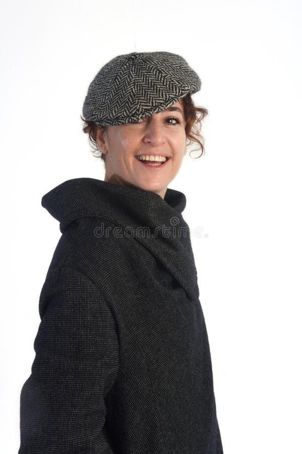 Portret kobieta ubierająca w zimie zdjęcia stock