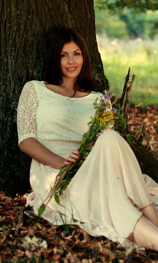 Portret kobieta w zima czasie zdjęcia stock