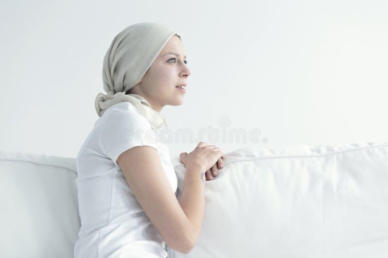 Portret kobieta z nowotworem zdjęcie royalty free
