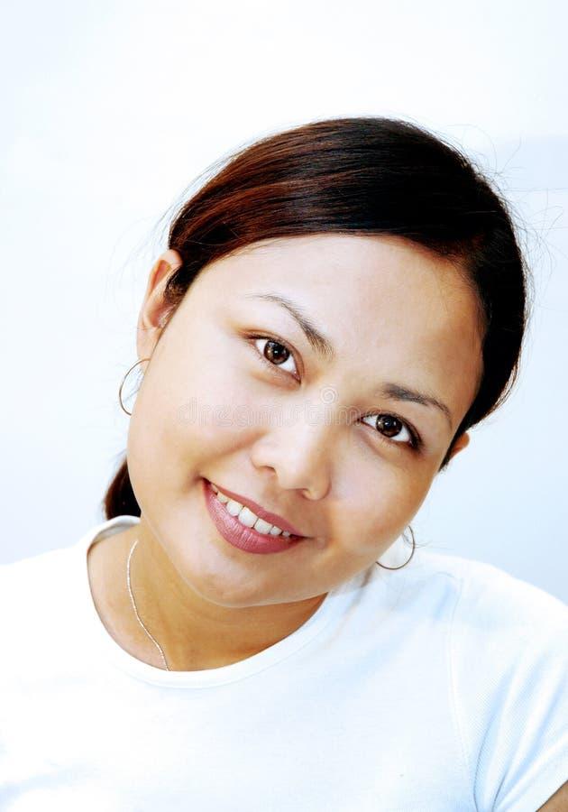 Download Portret kobiety zdjęcie stock. Obraz złożonej z asia, szczęśliwy - 131708
