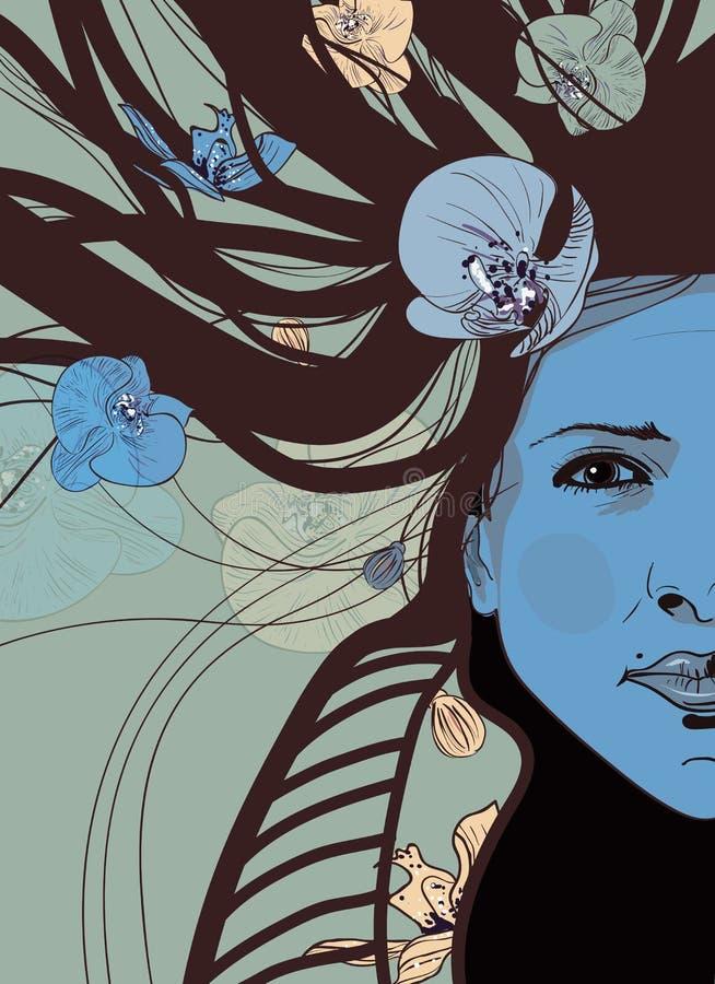 portret kobiety ilustracji