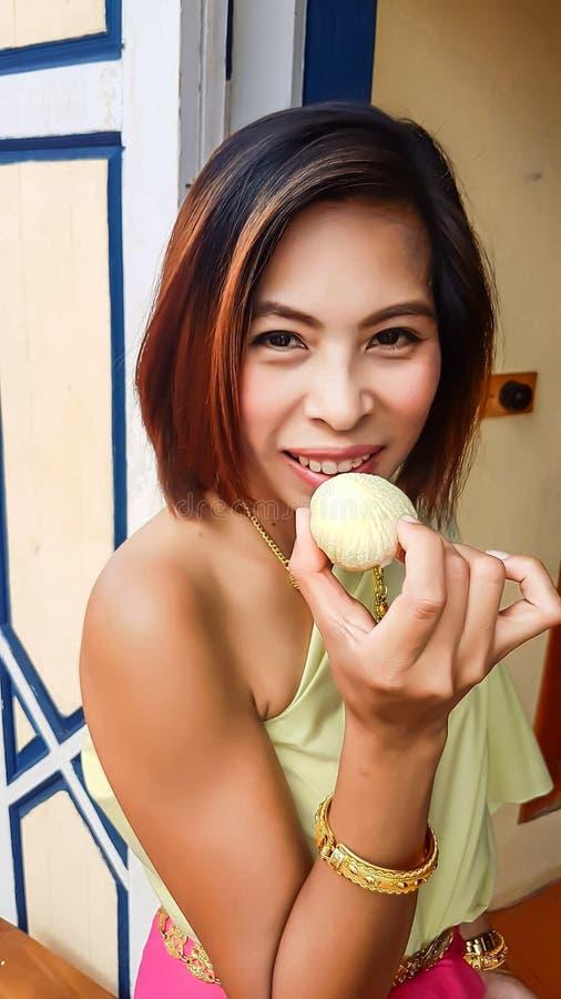 Portret kobiety Azjatycka suknia, Tajlandia obrazy stock