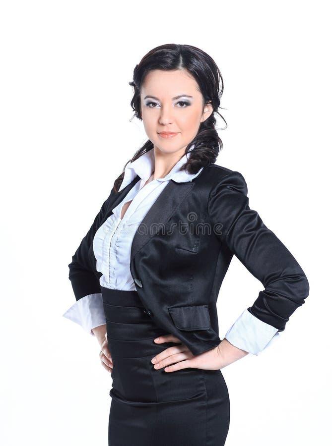 portret kobiety biznesu sukces pojedynczy bia?e t?o zdjęcia royalty free