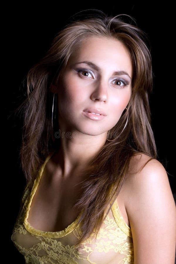 portret kobiety młode piękności zdjęcie stock