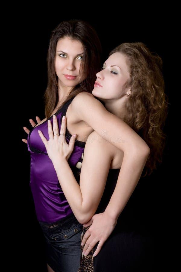 portret kobiety seksowna dwa obraz royalty free