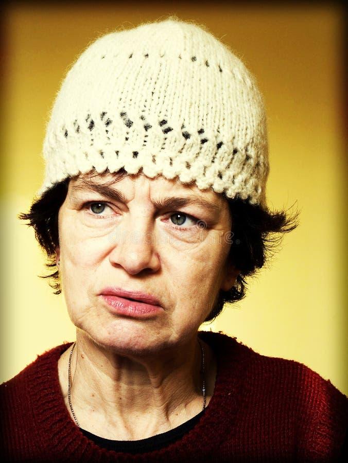 portret kobiety seniora zdjęcie stock