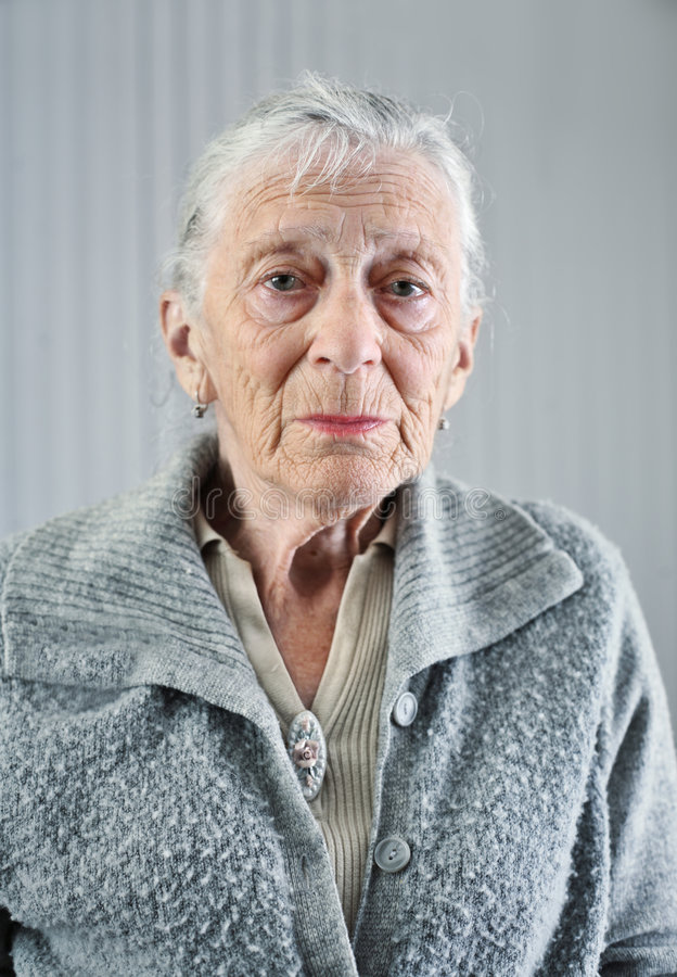 portret kobiety seniora fotografia stock