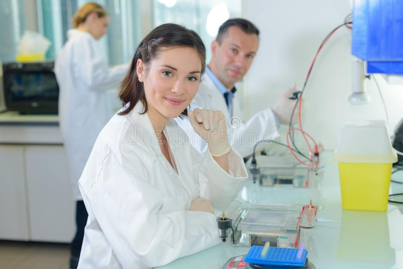 Portret laboranccy technicy fotografia stock