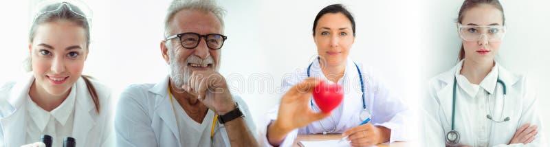 Portret lekarz medycyny drużyna, Okupacyjny, opieki zdrowotnej concep fotografia royalty free