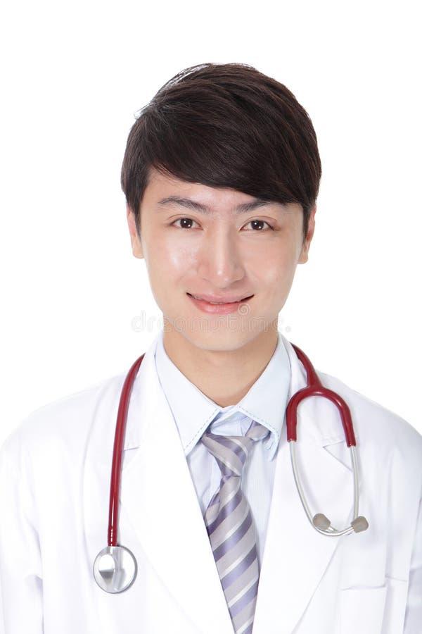 Portret lekarza medycyny pozować obraz royalty free