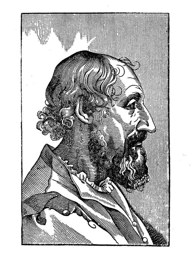 Portret Ludovico Ariosto Włoska Renesansowa poeta ilustracji