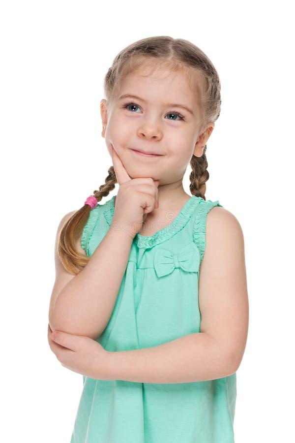 Portret mądra mała dziewczynka zdjęcie royalty free