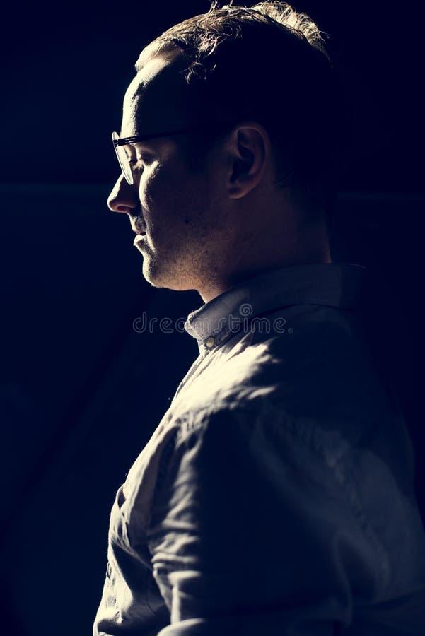 Portret mężczyzna boczny widok obrazy stock