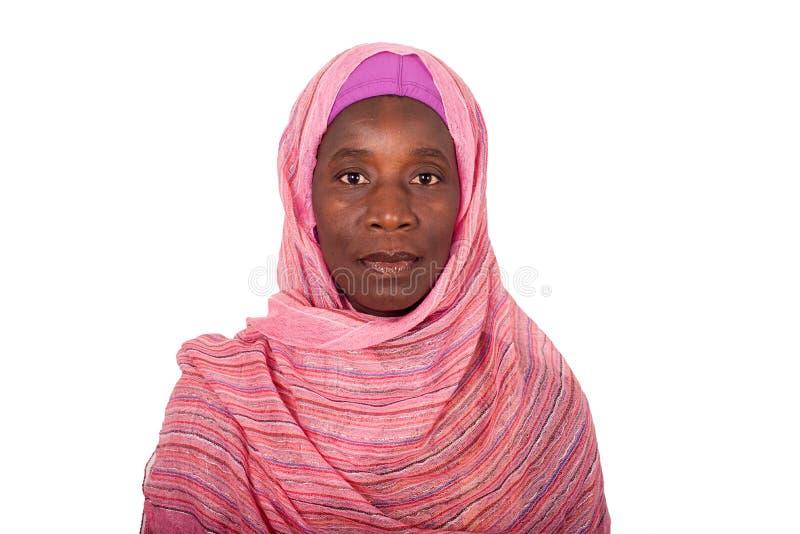 Portret młoda Afrykańska kobieta z przesłoną obrazy stock