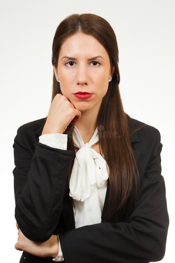 Portret młoda biznesowa kobieta fotografia stock