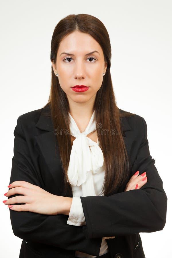 Portret młoda biznesowa kobieta obrazy stock