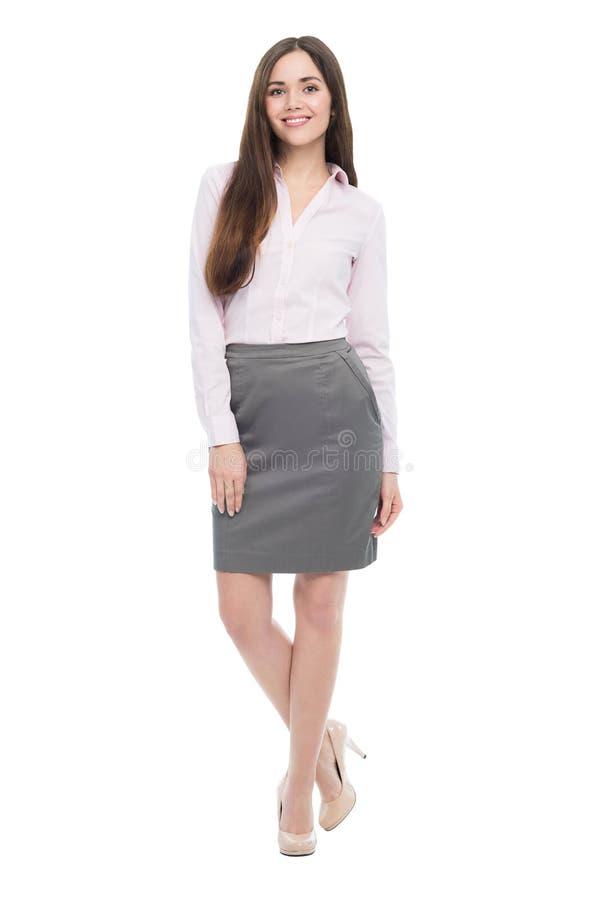Portret młoda biznesowej kobiety pozycja fotografia royalty free