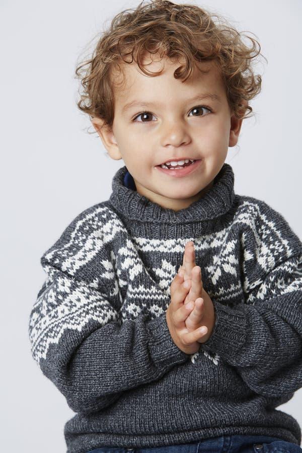 Portret młoda chłopiec fotografia stock