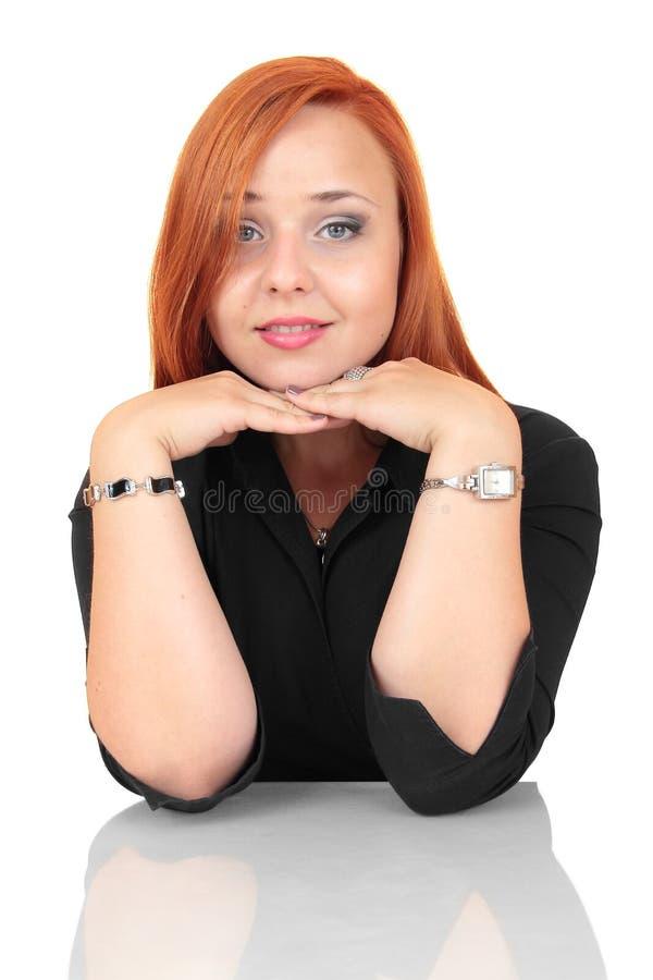 Portret młoda kobieta patrzeje relaksujący zdjęcia royalty free