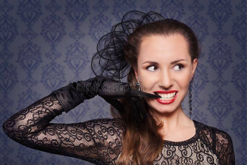 Portret młoda kobieta w wieczór makeup zdjęcia stock