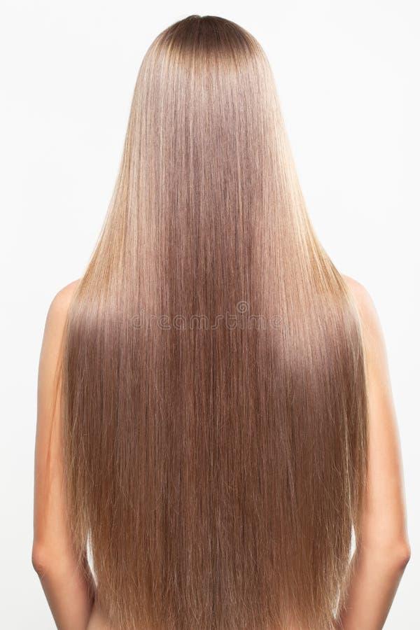 Portret młoda kobieta z długie włosy obraz stock