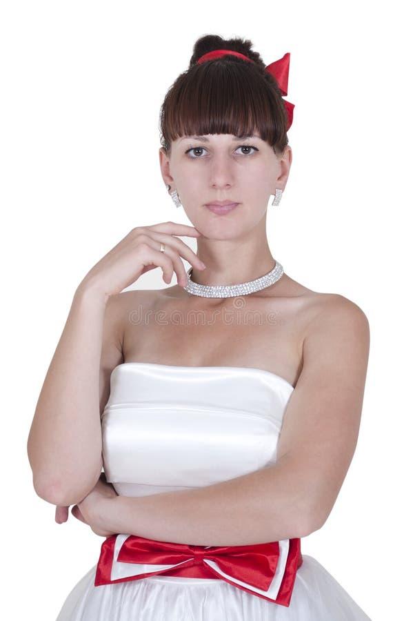 Portret młoda panna młoda zdjęcia stock