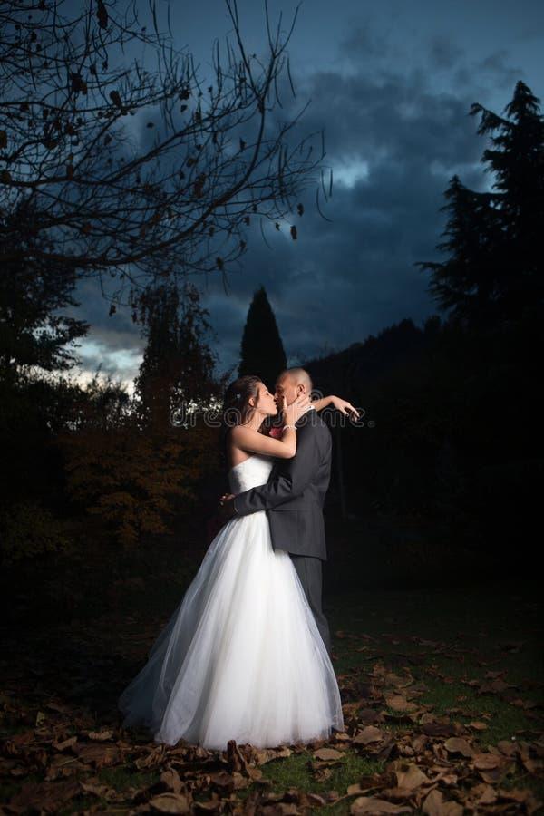 Portret Młoda para małżeńska zdjęcia stock