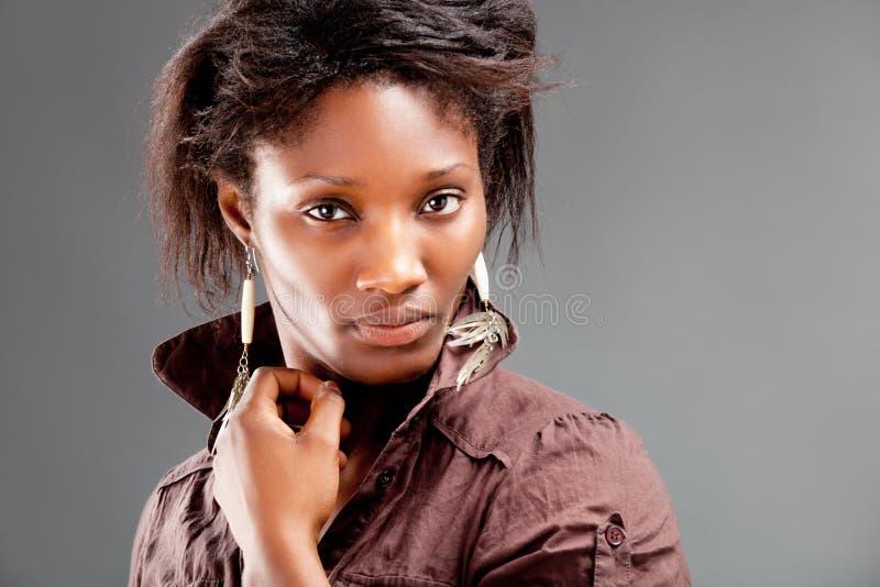 Portret młoda piękna murzynka fotografia royalty free