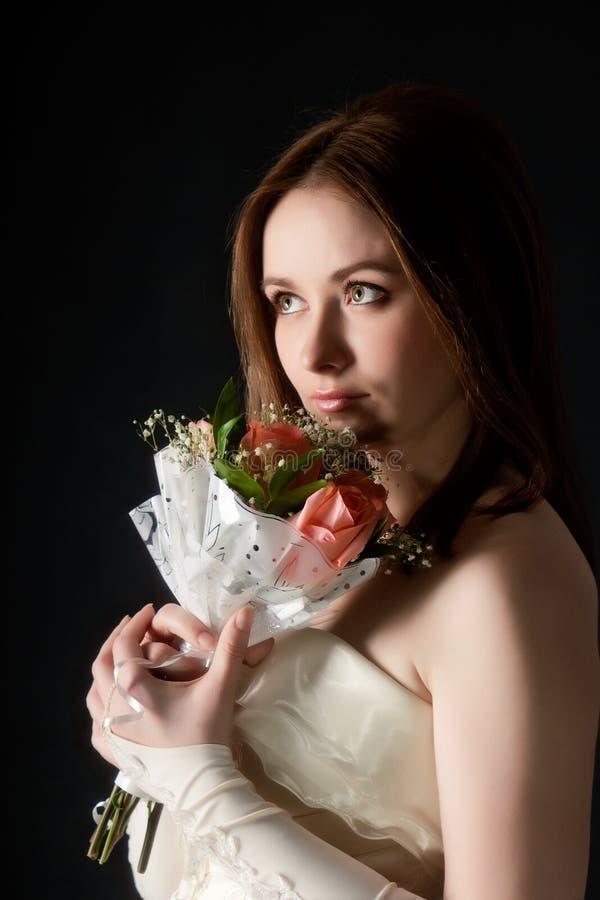 Portret młodej kobiety atrakcyjna panna młoda obrazy royalty free