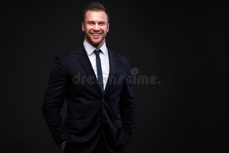 Portret młody biznesmen obrazy stock
