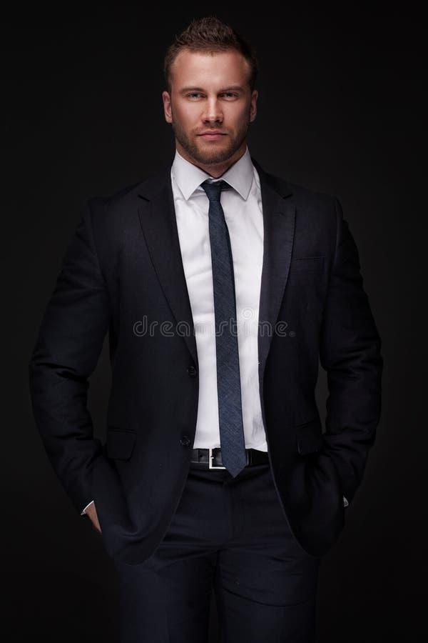 Portret młody biznesmen fotografia stock