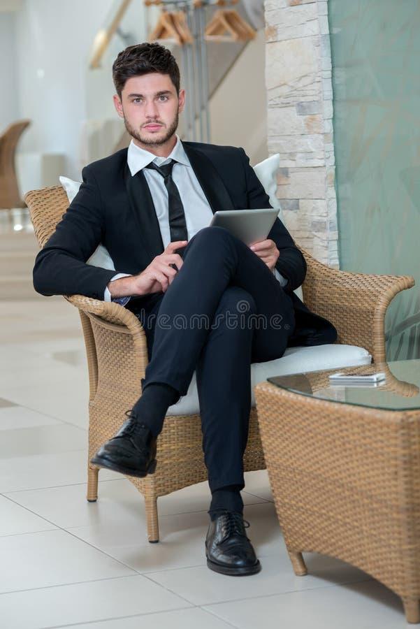 Portret młody i niepłonny biznesmen fotografia royalty free